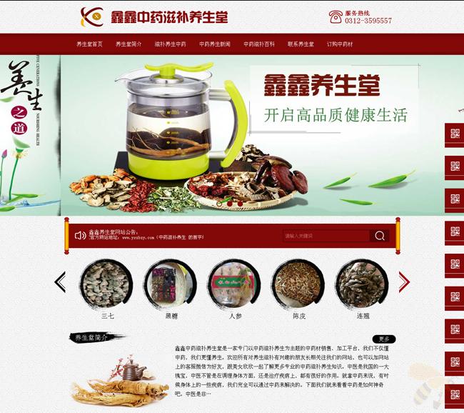 ASP中药养生堂企业网站源码