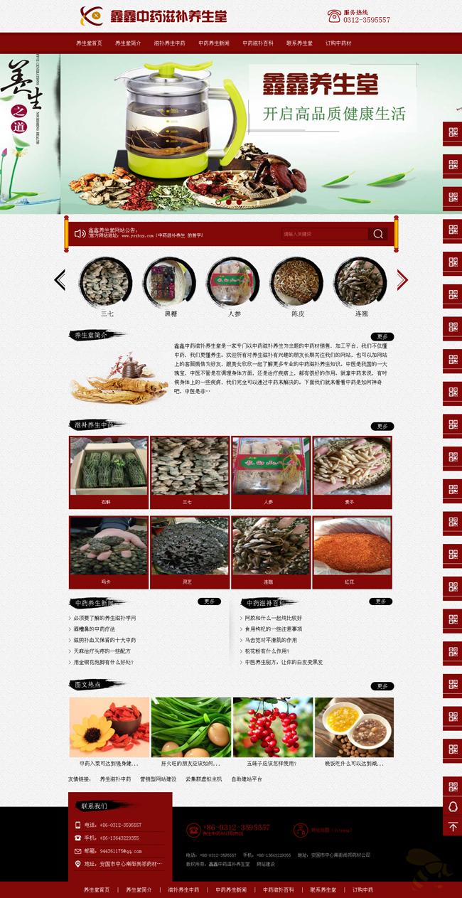 ASP中药养生堂企业网站源码 古色古香中国风整站源码