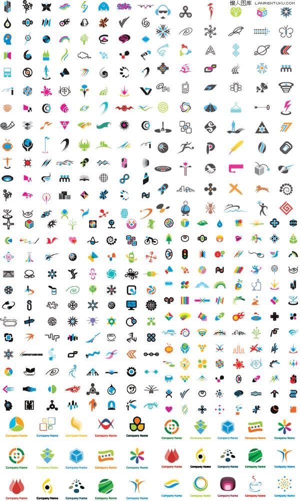 上百款实用logo图案模板设计矢量素材